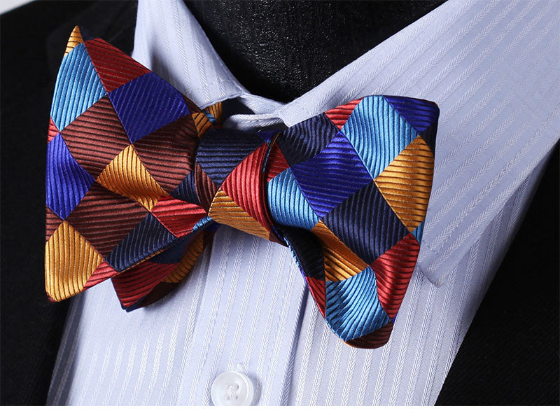 Fresh Checkers Bow Tie and Pocket Square - SOPHGENT