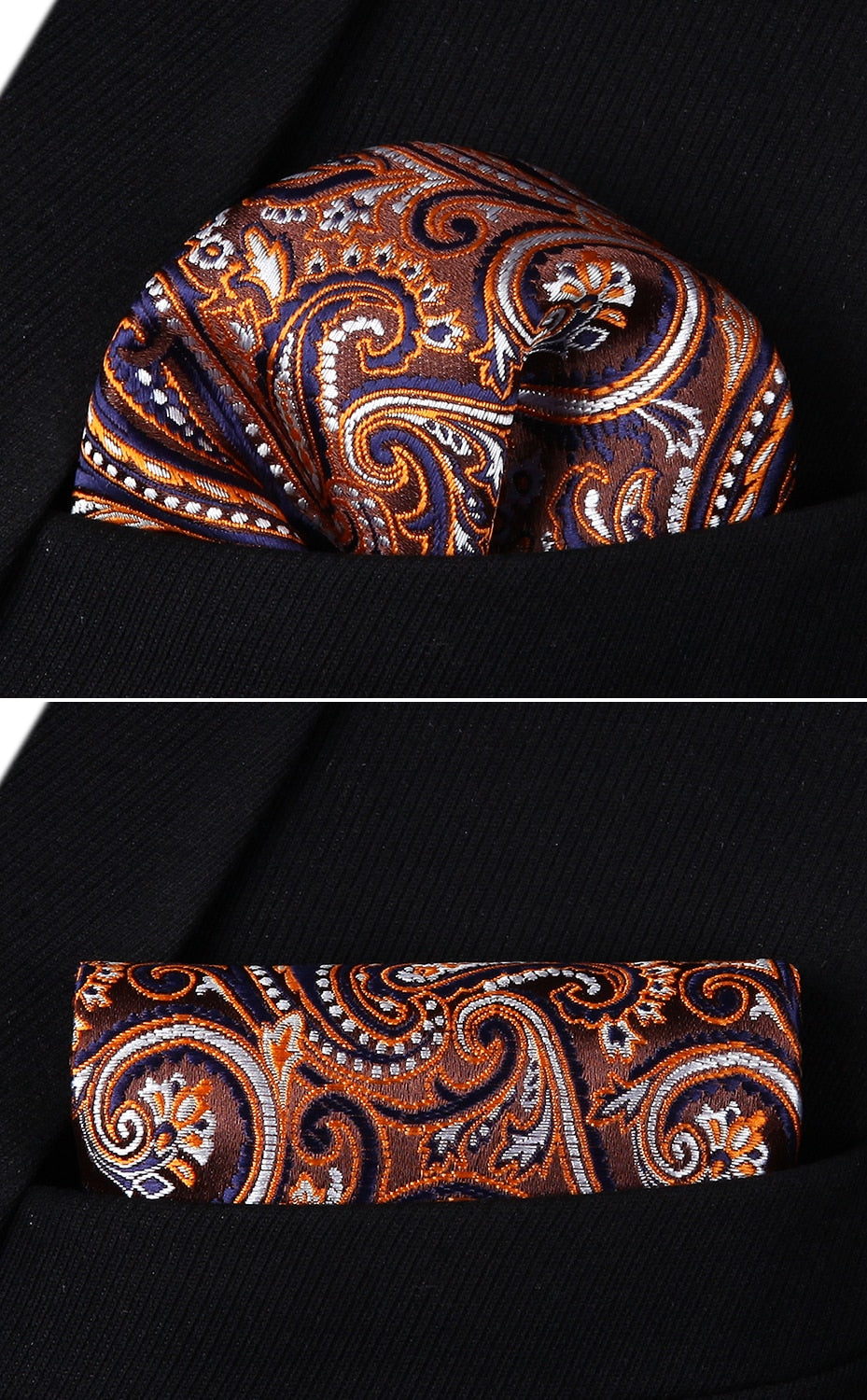 f9d643a42dd2 Brown and Blue Paisley Tie and Pocket Square | Beautiful ties at ...