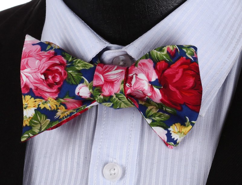 The Rose Valley Bow Tie and Pocket Square - SOPHGENT