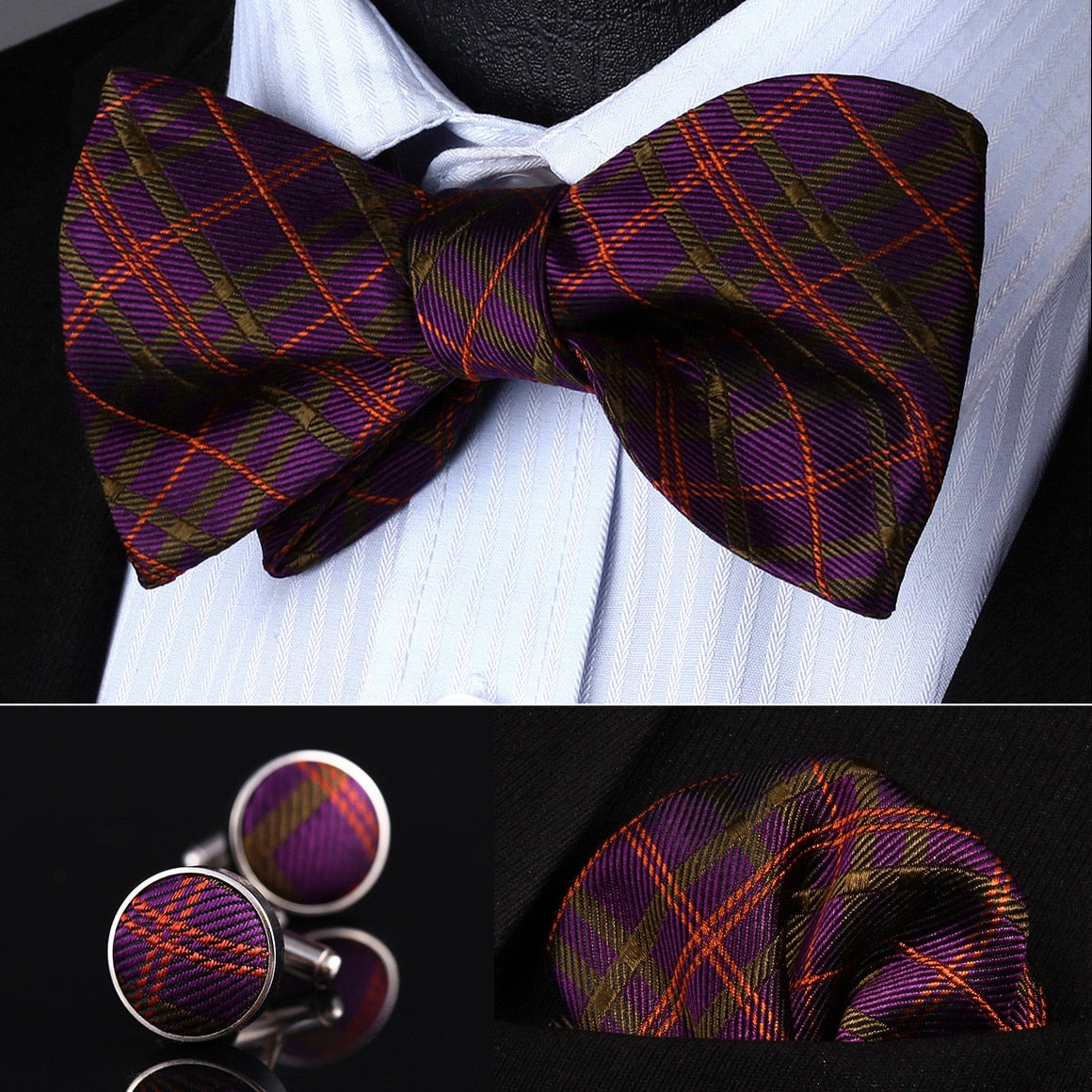 73fde7af4504 Spirit Of Scotland Bow Tie, Pocket Square and Cufflinks - SOPHGENT ...