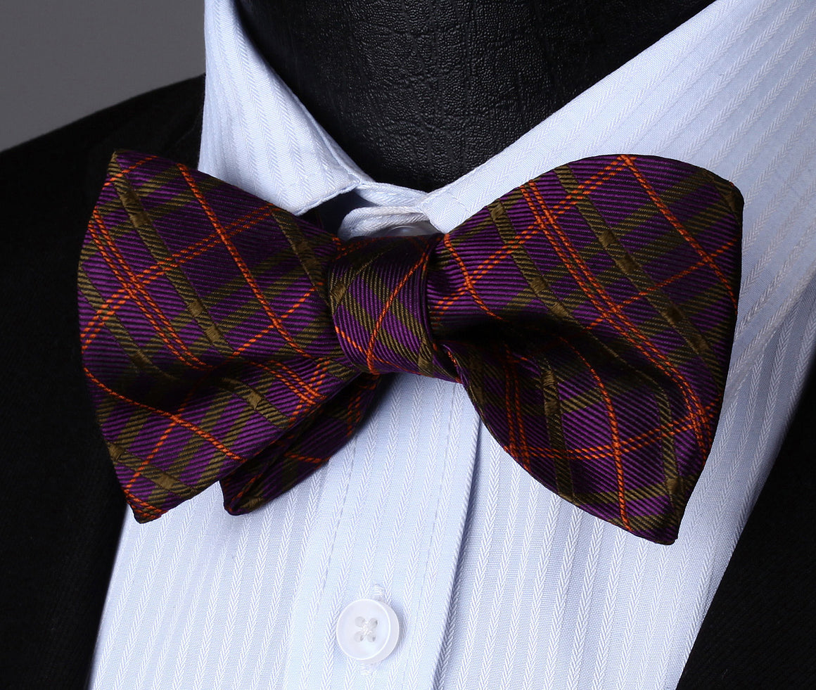 Spirit Of Scotland Bow Tie, Pocket Square and Cufflinks - SOPHGENT