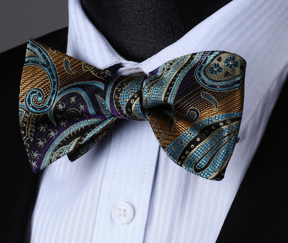 Universe Bow Tie, Pocket Square and Cufflinks - SOPHGENT