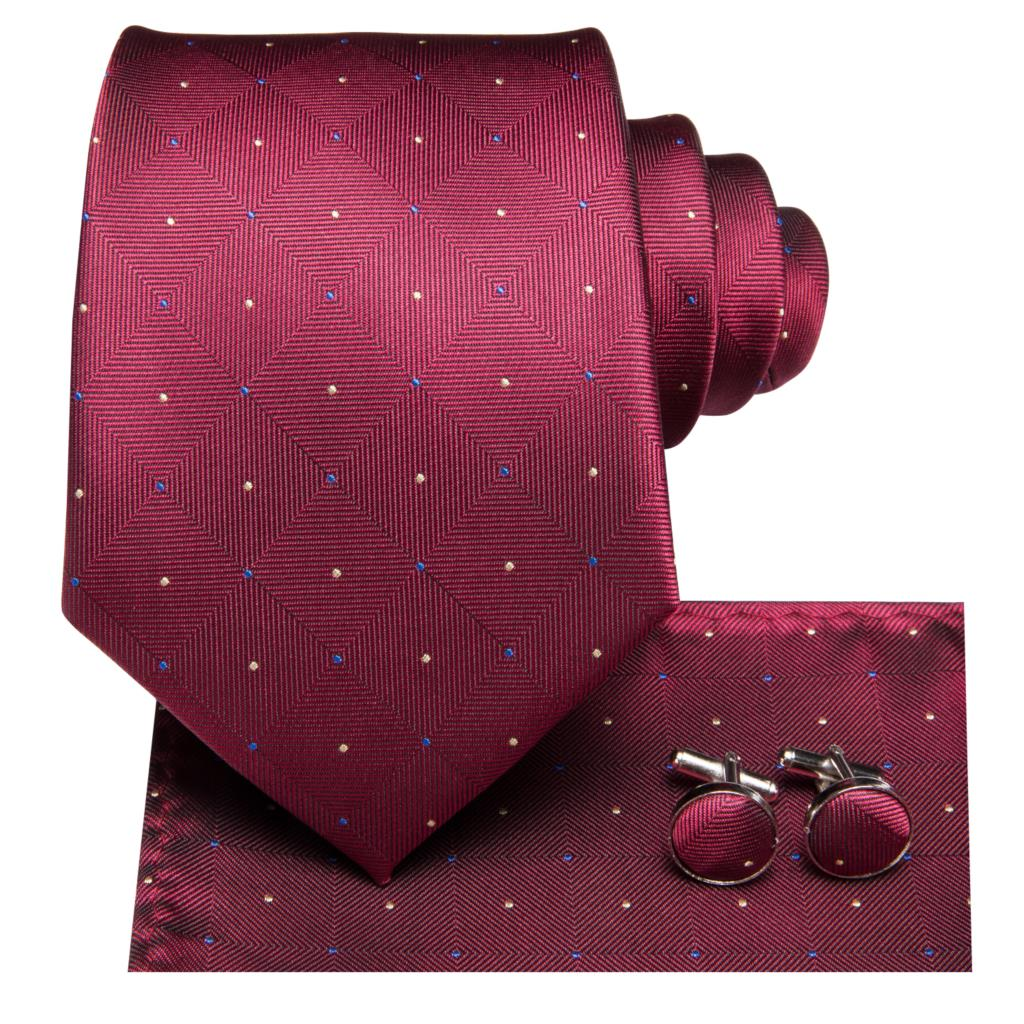 Red Carpet Diamonds Tie Set - SOPHGENT