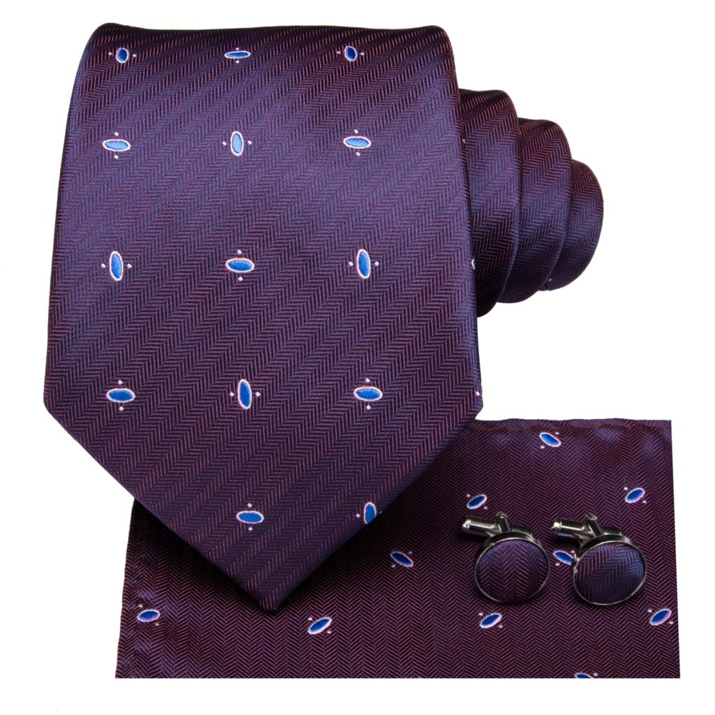 Purple Secrets Tie, Pocket Square and Cufflinks - SOPHGENT