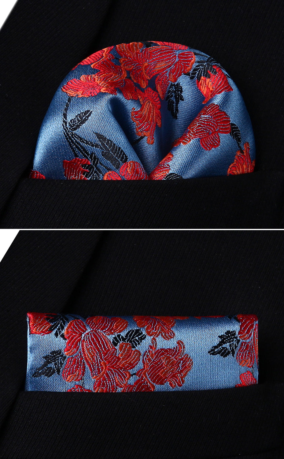 Floral Sky Tie and Pocket Square - SOPHGENT