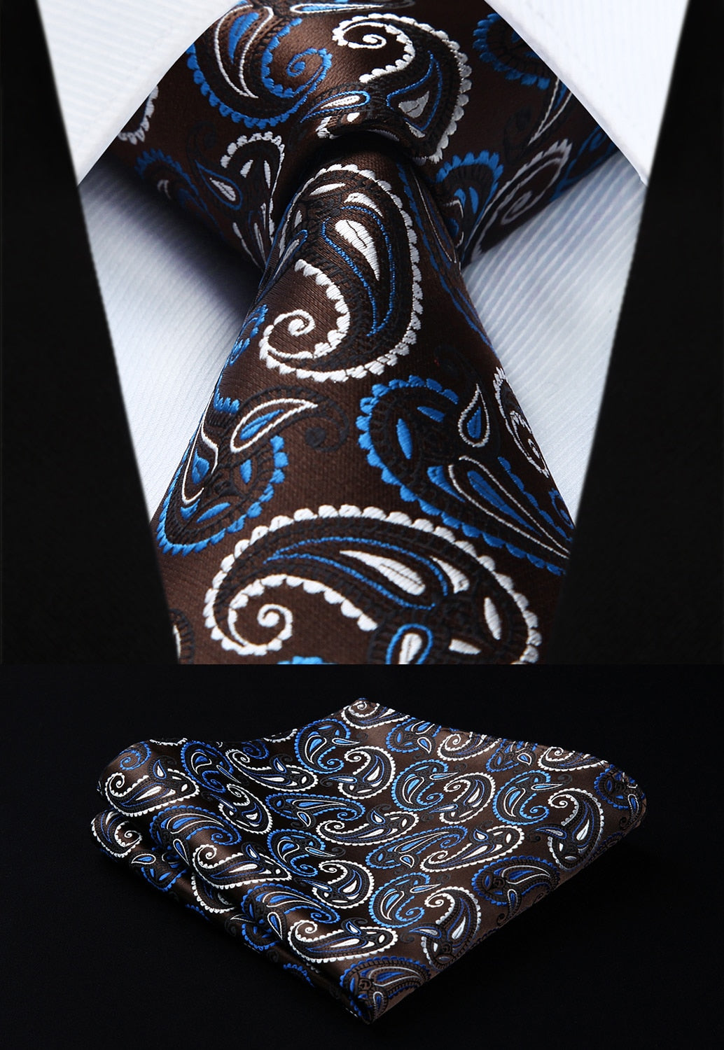 273795e97c3e Two-Color Paisley Tie and Pocket Square | Beautiful ties at ...