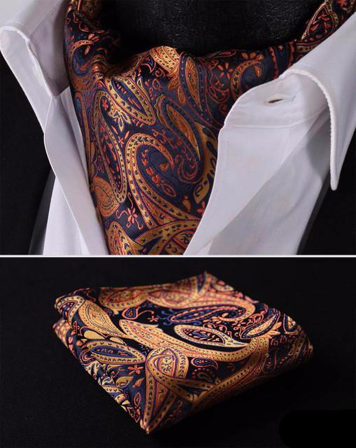 Gold Lava Ascot and Pocket Square - SOPHGENT