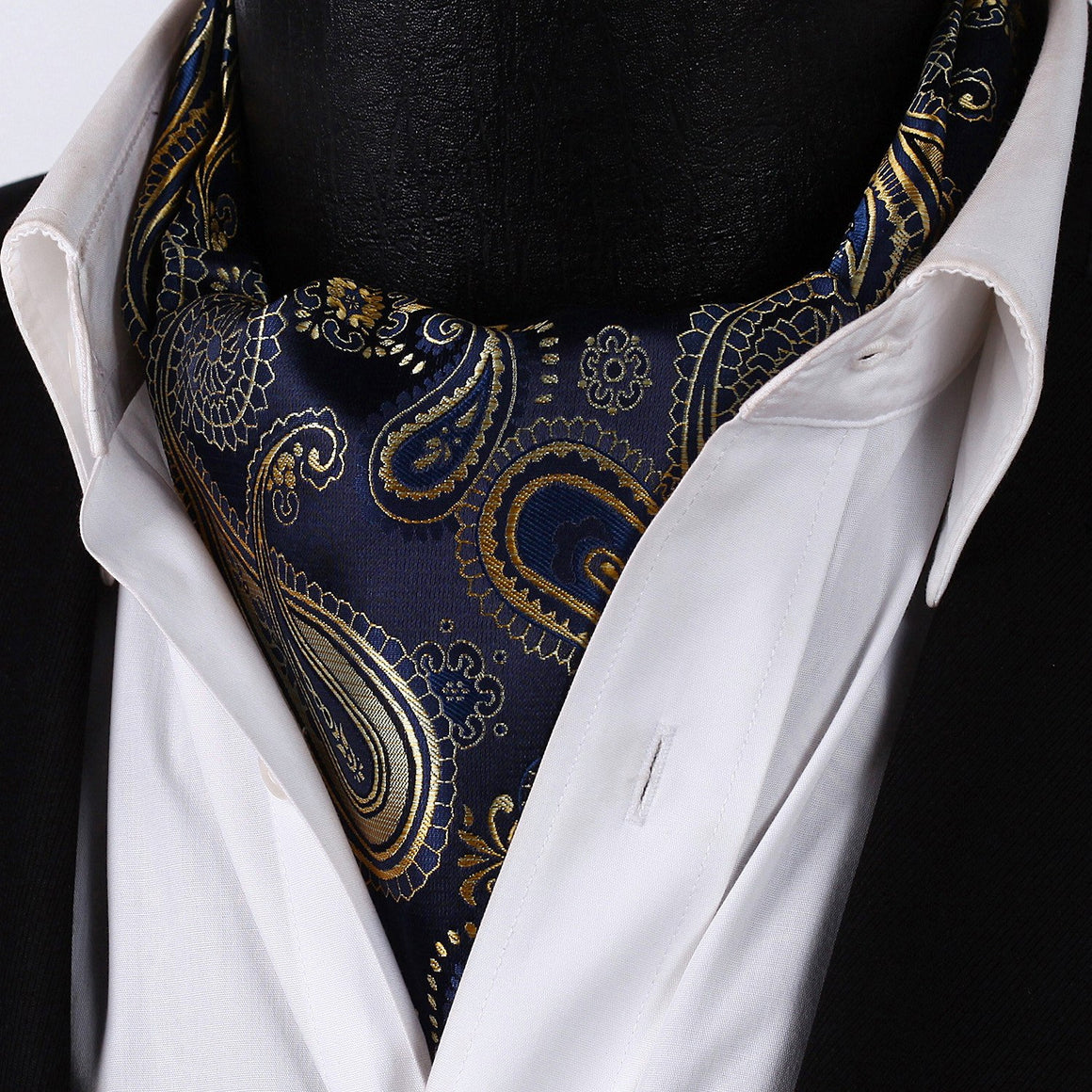 Quiet Storm Paisley Ascot and Pocket Square - SOPHGENT