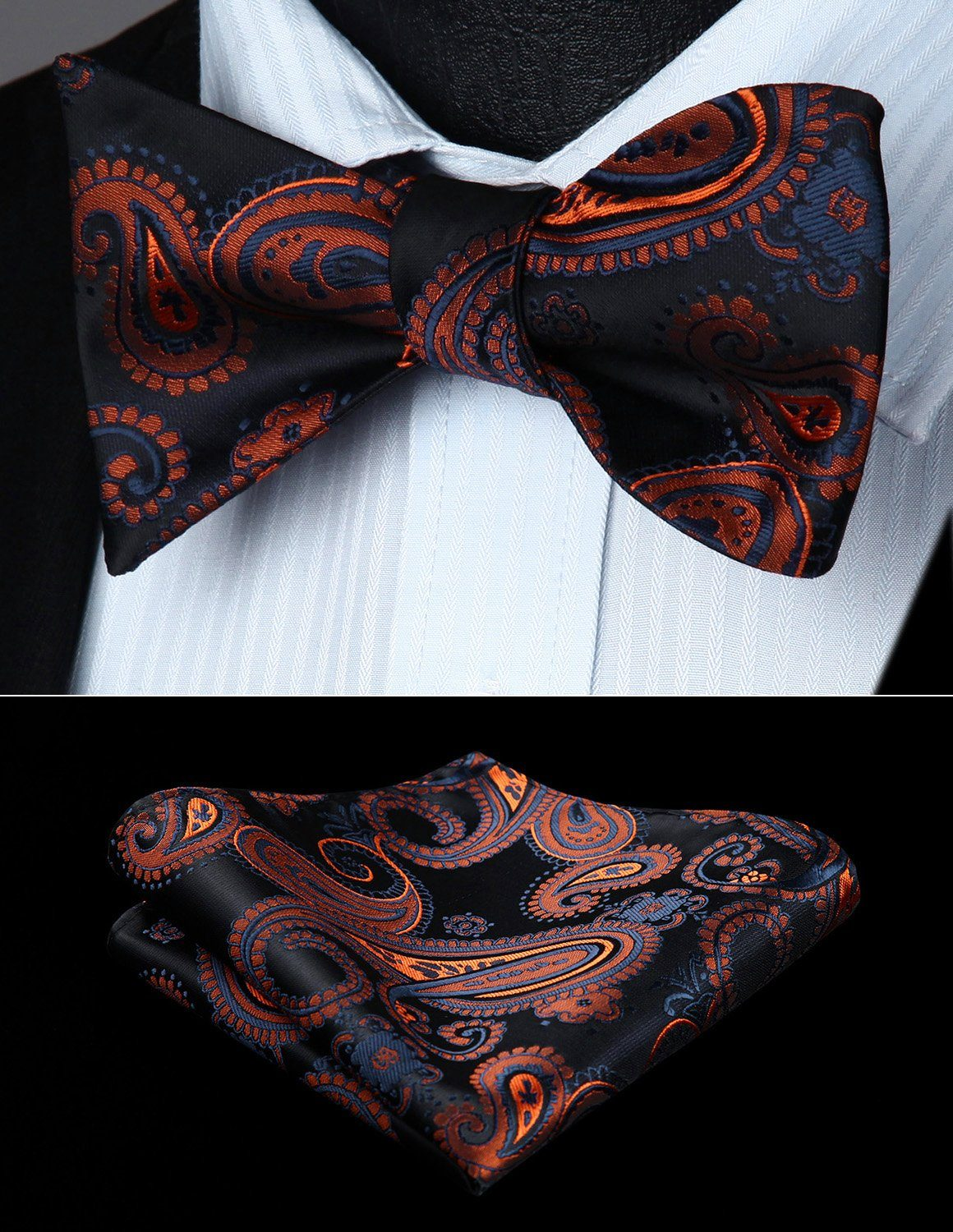 Autumn Storm Bow Tie and Pocket Square - SOPHGENT