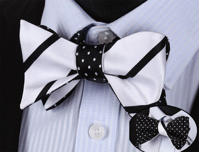 DAY & NIGHT BOW TIE AND POCKET SQUARE (DOUBLE SIDED) - SOPHGENT