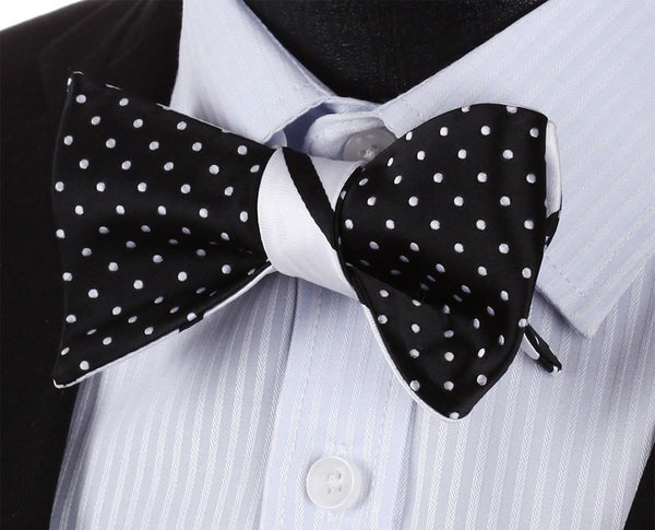 Day Amp Night Bow Tie And Pocket Square Double Sided