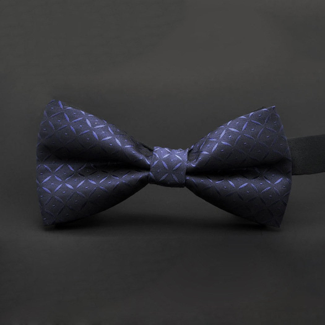 Bow Tie - SALE / Navy Patterned Bow Tie