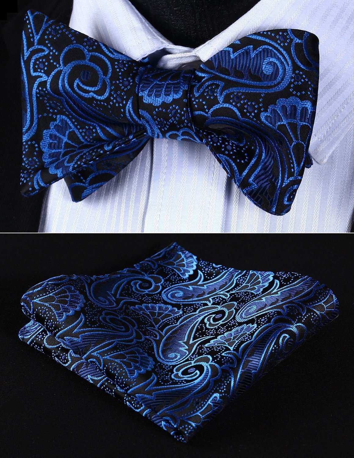 Bow Tie Sets - Deep Water Bow Tie And HAndkerchief