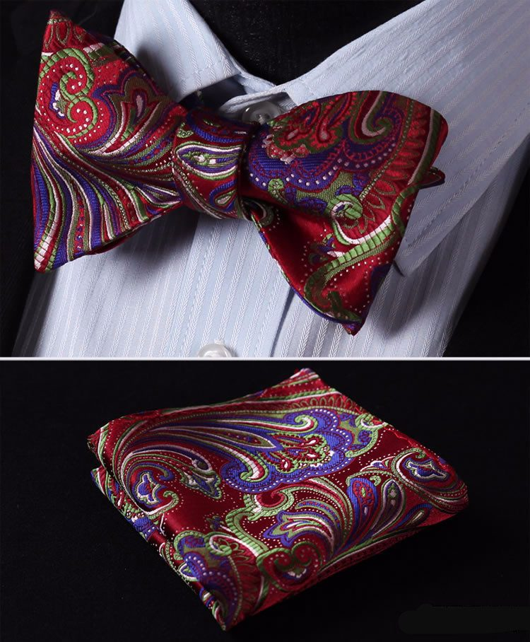 Rich and Famous Bow Tie and Pocket Square - SOPHGENT