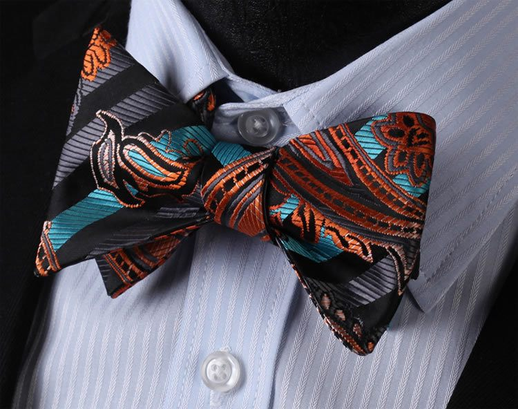 Sunset Bow Tie and Pocket Square - SOPHGENT
