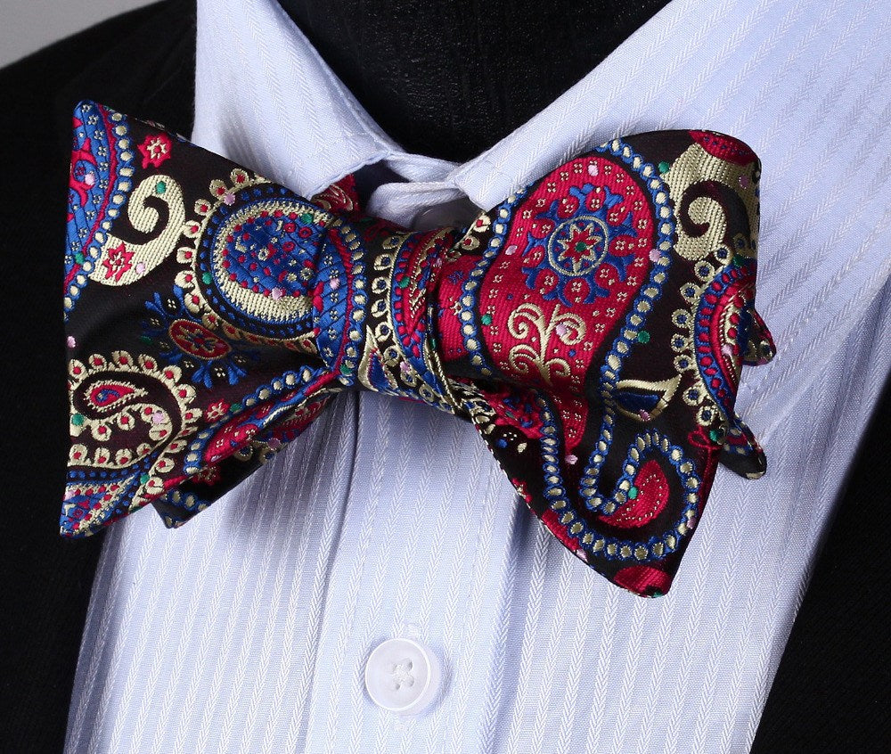 Time Square Paisley Bow Tie and Pocket Square - www.sophgent.com - 1
