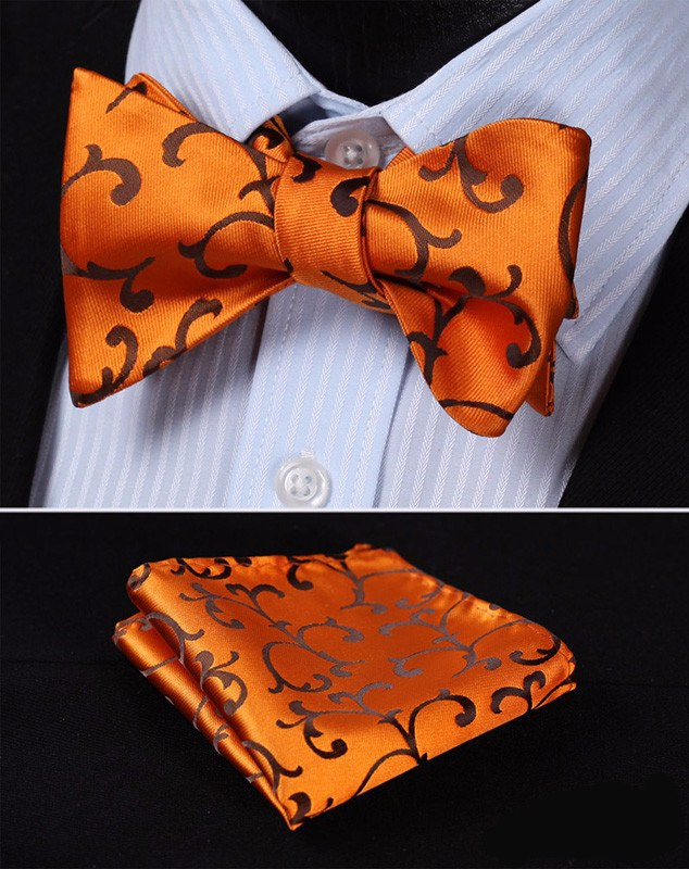 Valley of Vines Bow Tie and Pocket Square - SOPHGENT