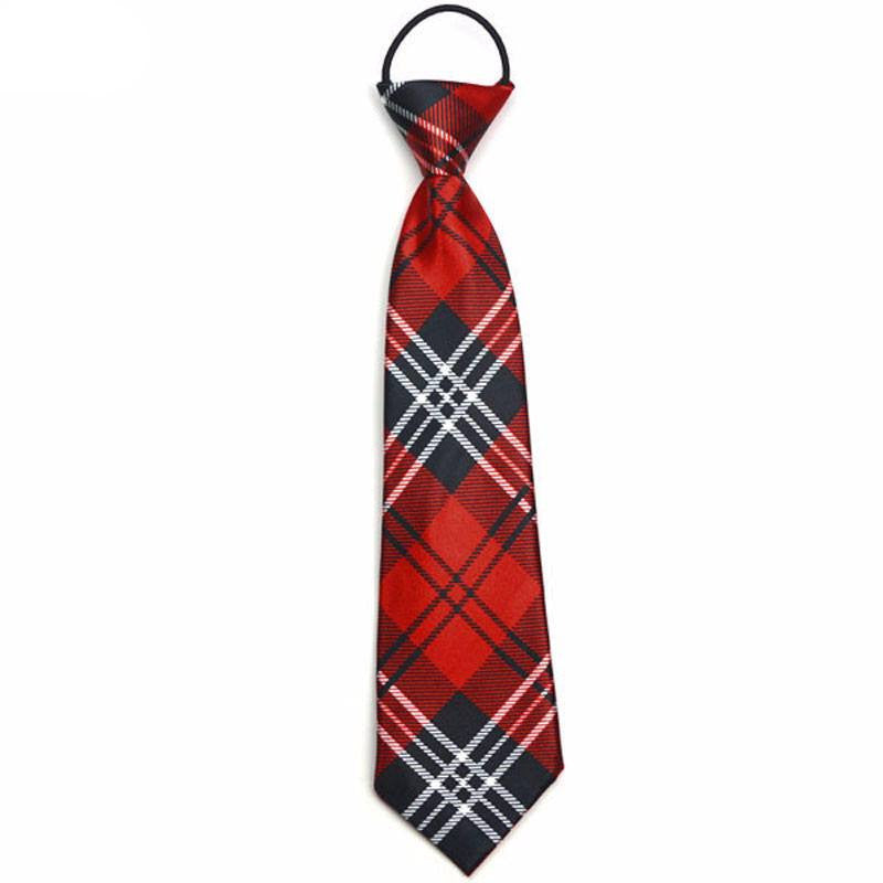 Blue and Red Plaid Boys Tie - SOPHGENT