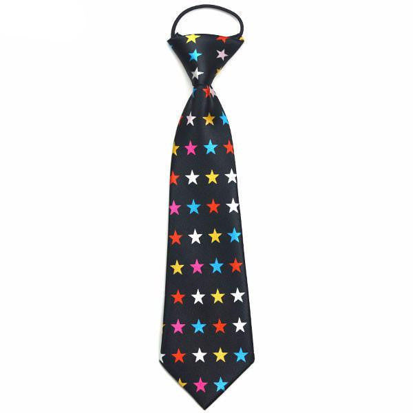 Boys Ties - Colorful Stars Boys Tie