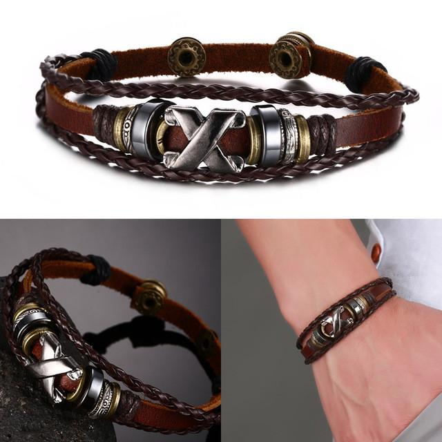Bracelet - Brown Genuine Leather Bracelet