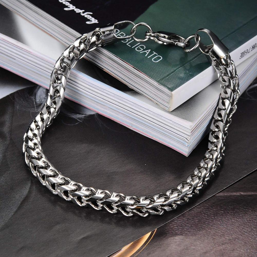 Crucible Men's Stainless Steel Wheat Chain Bracelet - SOPHGENT