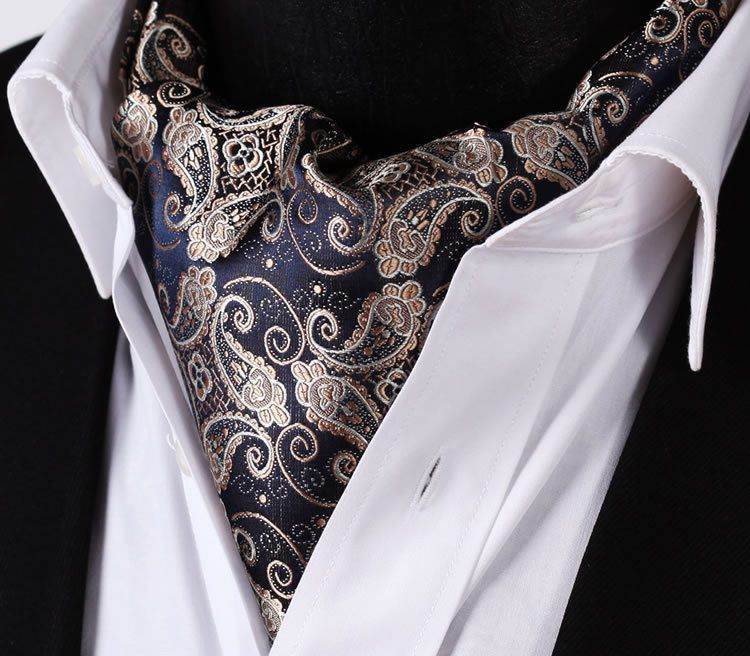 Cozumel Paisley Ascot and Handkerchief - www.sophgent.com - 1