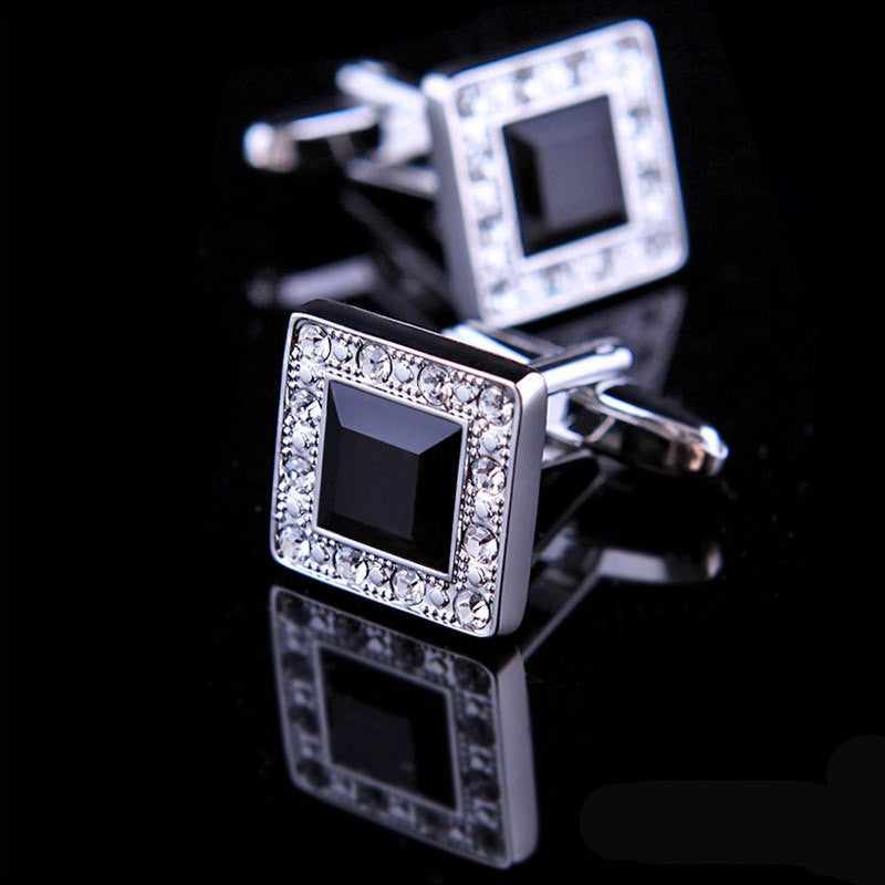 Black Crystal Cufflinks - SOPHGENT