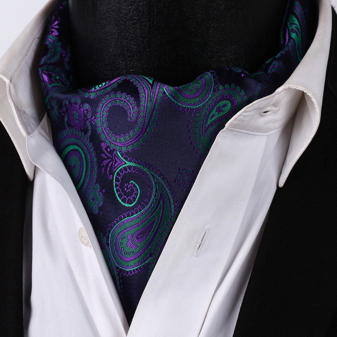 Dark Cross Wind Paisley Ascot and Pocket Square - SOPHGENT