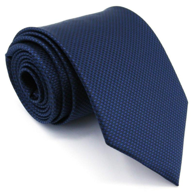 Extra Long - Blue Houndstooth Tie