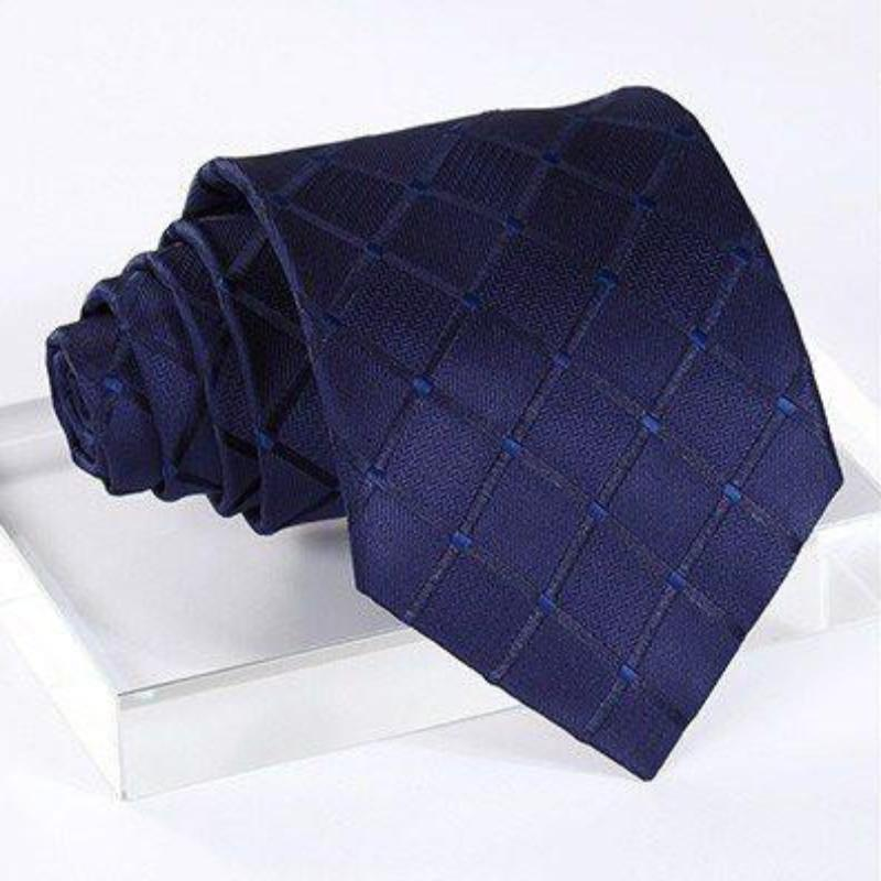BLUE SQUARES XL TIE AND POCKET SQUARE - SOPHGENT