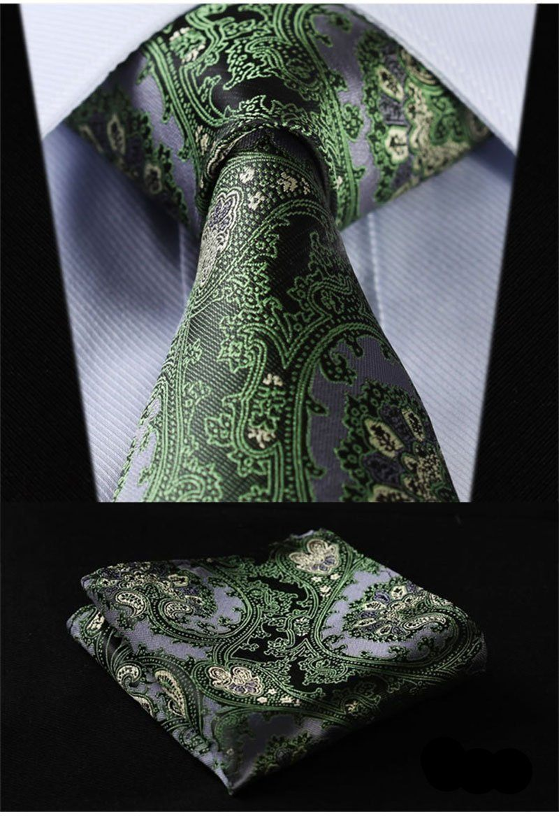 Emerald Green Silk Tie and Pocket Square - SOPHGENT