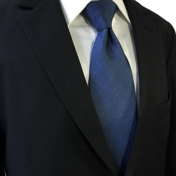 Solid Navy Blue Tie and Pocket Square   Beautiful ties at ...