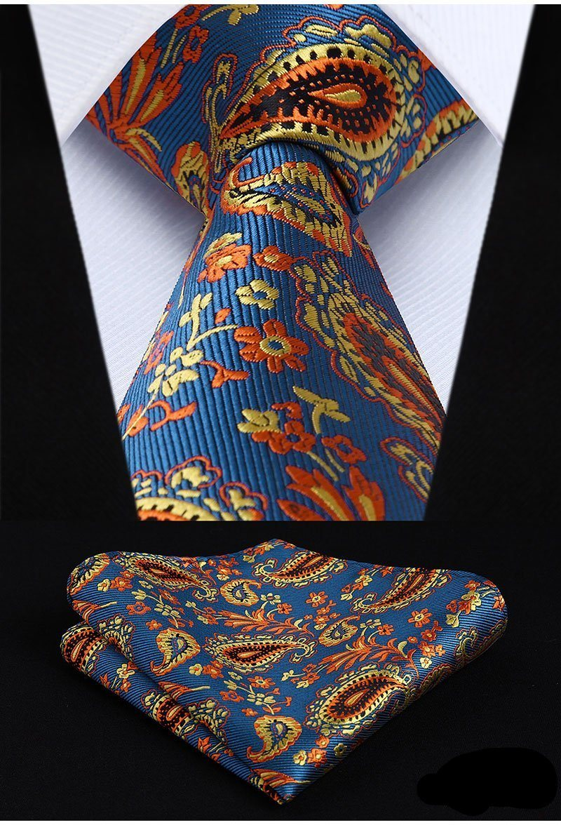 Sunday In The Park Tie and Pocket Square - SOPHGENT