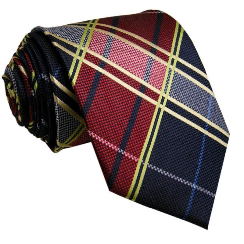 Tartan Tie In Blue and Red - SOPHGENT