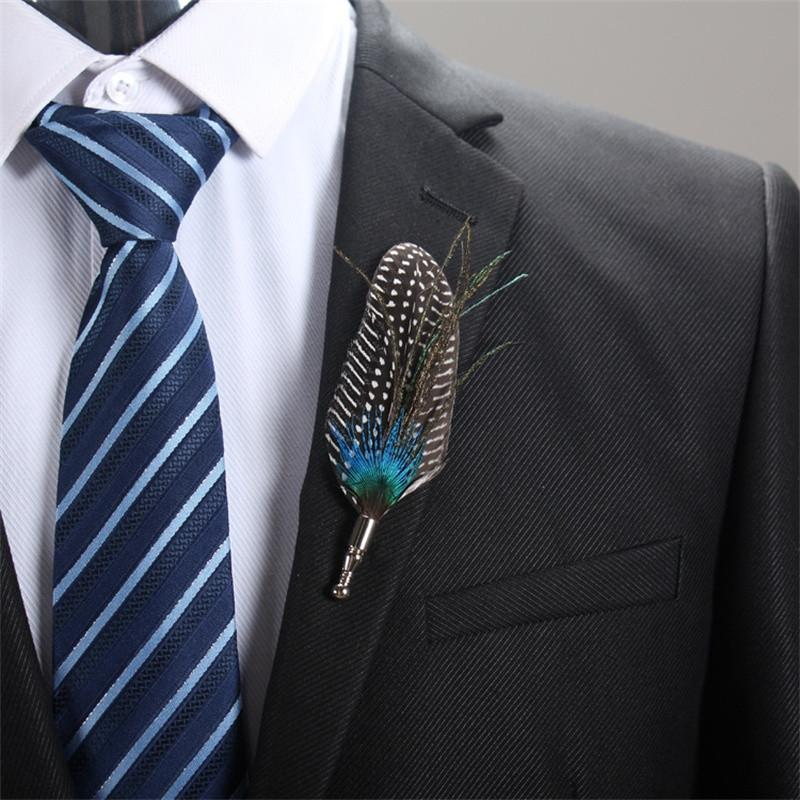 Feather Lapel Pin - Natural - SOPHGENT