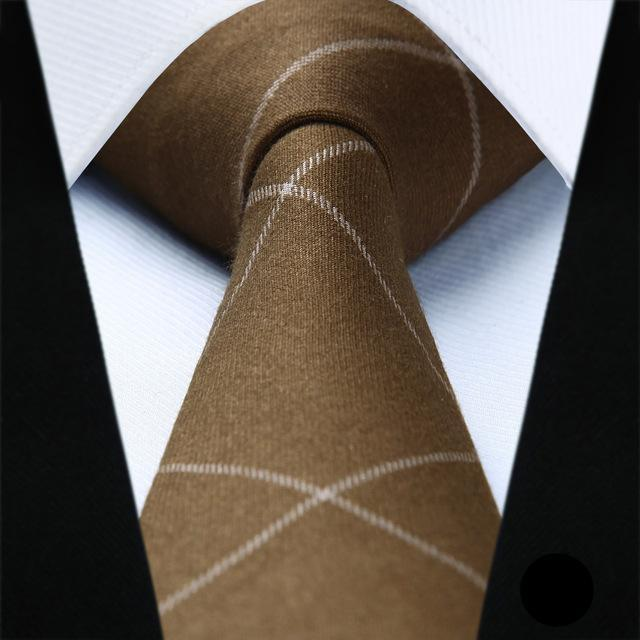 Brown Skinny Cotton Tie - SOPHGENT