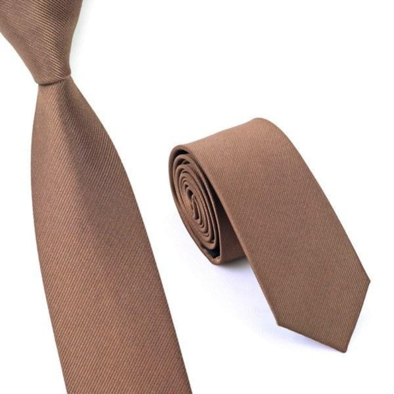 Brown Slim Tie - SOPHGENT