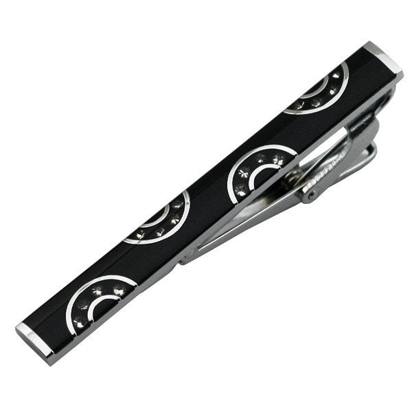 Black Themed Enamel Tie Clip - SOPHGENT