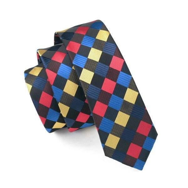 Colorful Gingham Slim Tie - SOPHGENT