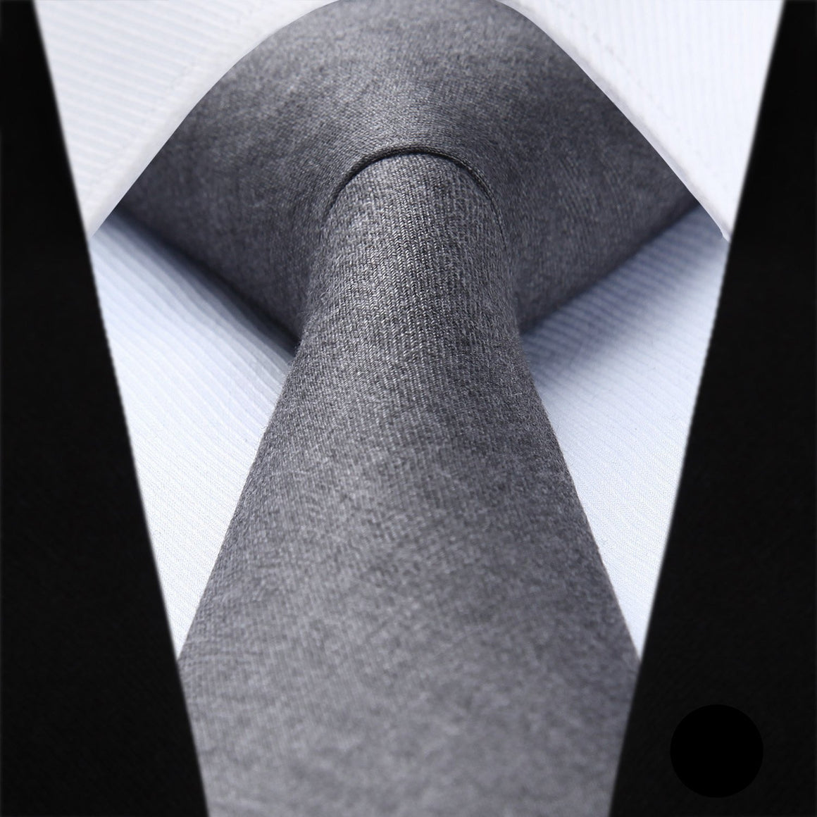 Gray Skinny Cotton Tie - SOPHGENT