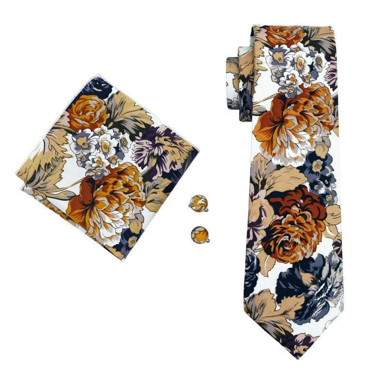 Tie Sets - Aquarelle Tie, Handkerchief And Cufflinks
