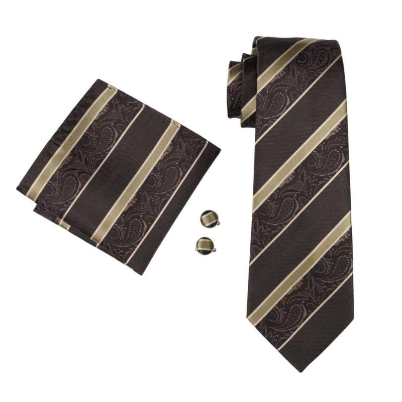 Bezos Tie, Pocket Square and Cufflinks - SOPHGENT