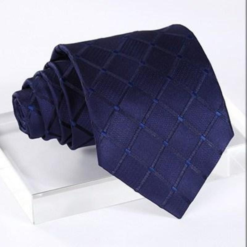 Blue Squares Tie, Handkerchief and Cufflinks