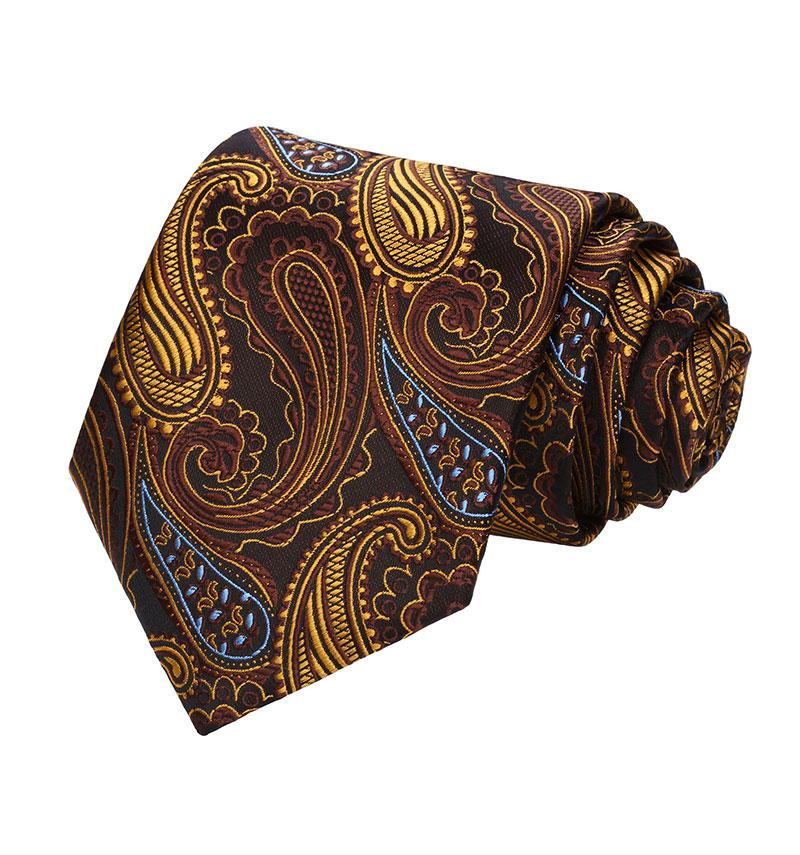 Copper Paisley Silk Tie and Pocket Square - SOPHGENT