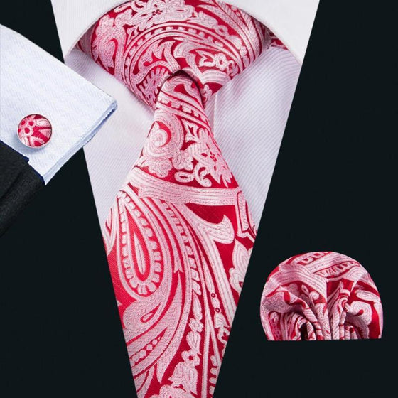 fa46f702a2e9 Coral Reef Silk Tie, Pocket Square and Cufflinks - SOPHGENT ...