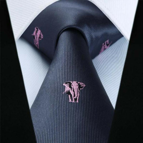 6d1e3b147159 Elephant Lovers Tie and Pocket Square - SOPHGENT ...