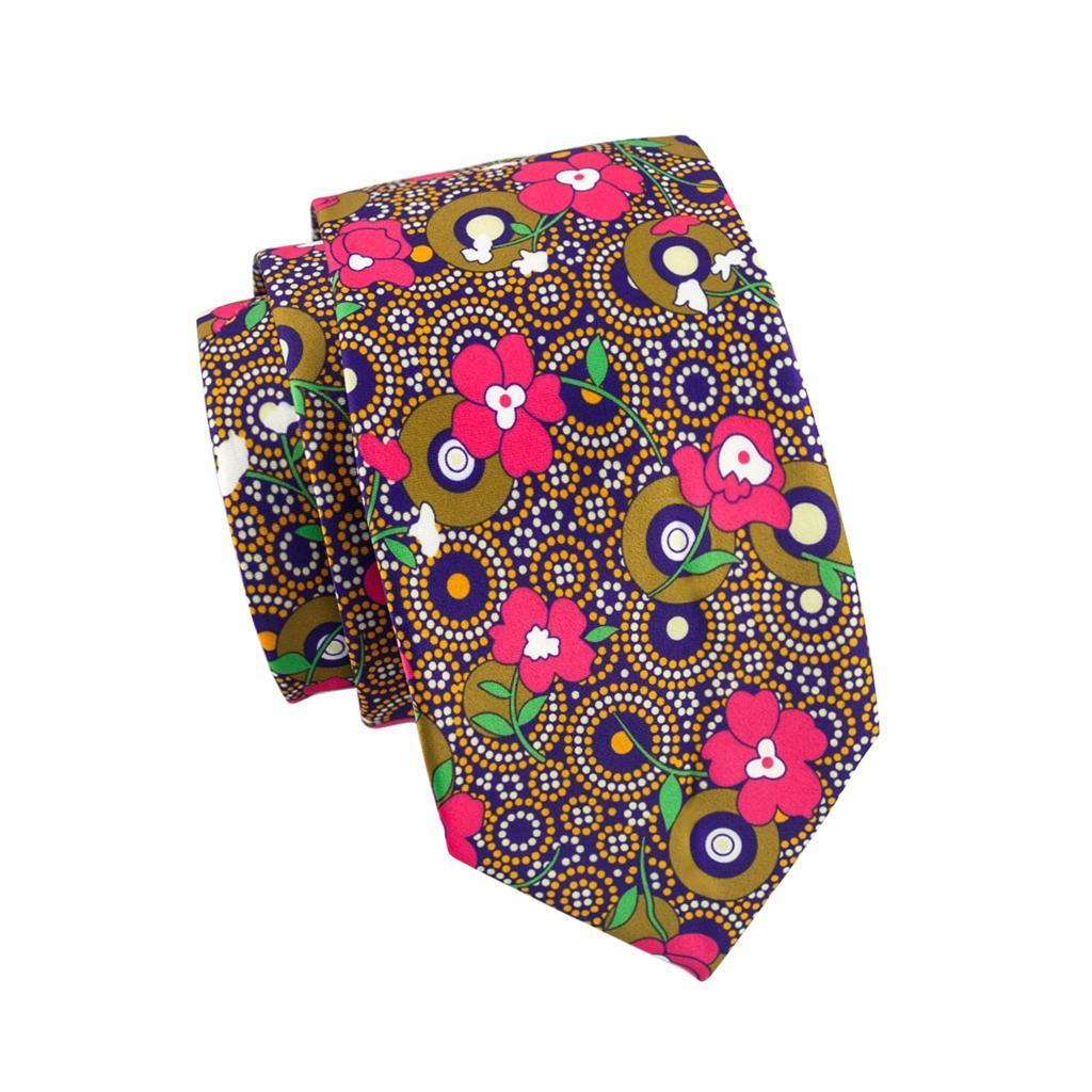 Floral Tie, Pocket Square and Cufflinks in Pink - SOPHGENT