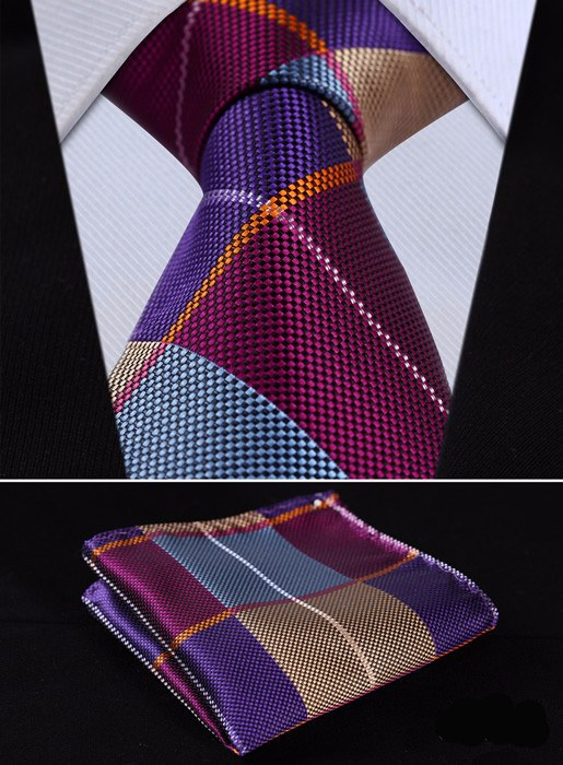 Hartford Plaid Tie and Pocket Square - SOPHGENT