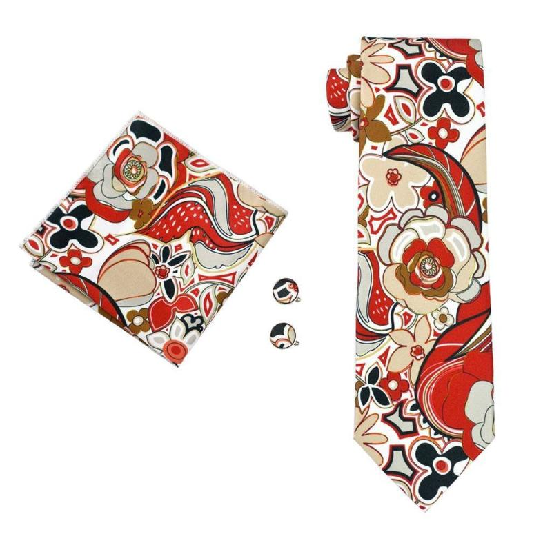 Lemann Tie, Pocket Square and Cufflinks - SOPHGENT