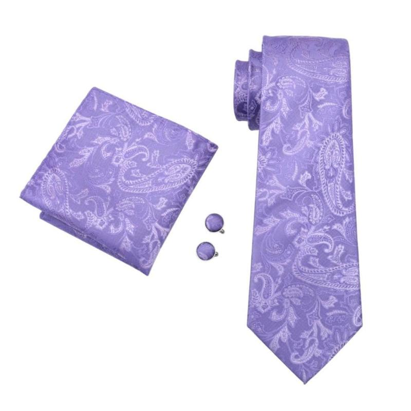 Lilac Floral Tie, Pocket Square and Cufflinks - SOPHGENT
